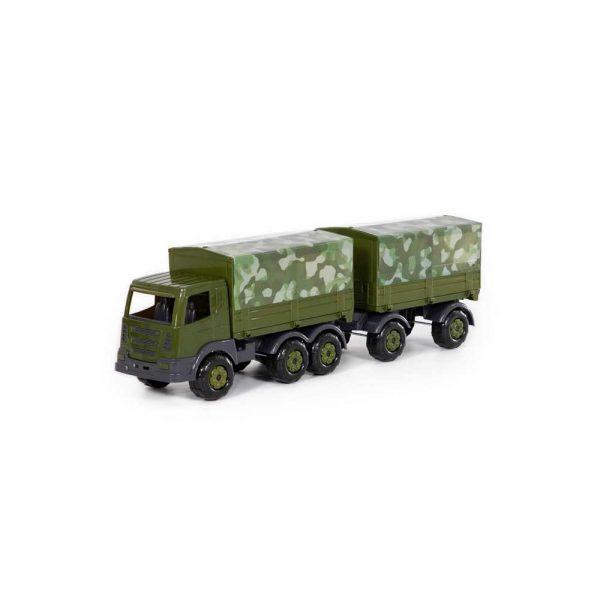 Camion militar cu prelata si remorca - SuperTruck