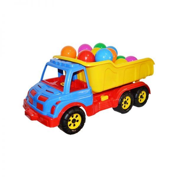 Camion plastic 60 cm + mingiute - ROBENTOYS