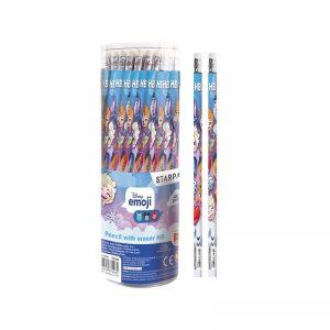 Creion cu guma - Emoji Frozen 48 buc/set - STARPAK