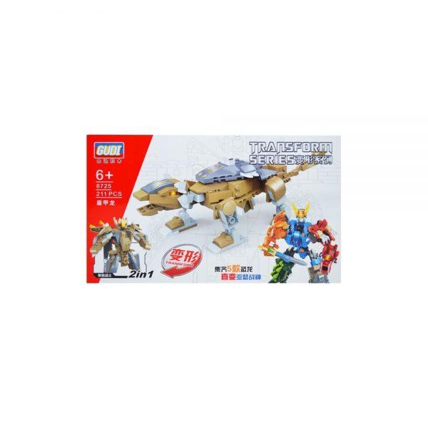 Cuburi constructii dinozaur/robot