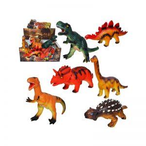 Dinozaur cauciucat cu baterii