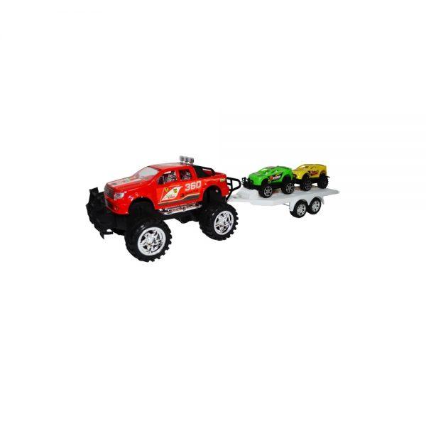 Jeep cu remorca si 2 masinute