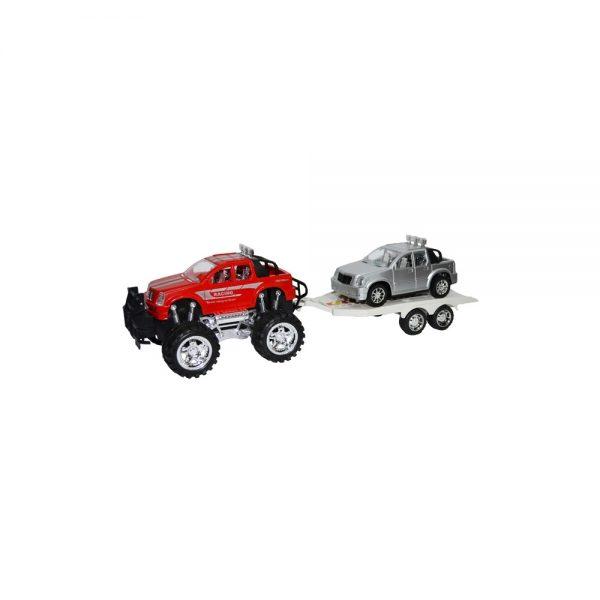 Jeep cu remorca si masina