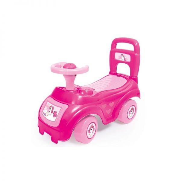 Masinuta fara pedale/roz Unicorn 37x48x21cm - Dolu