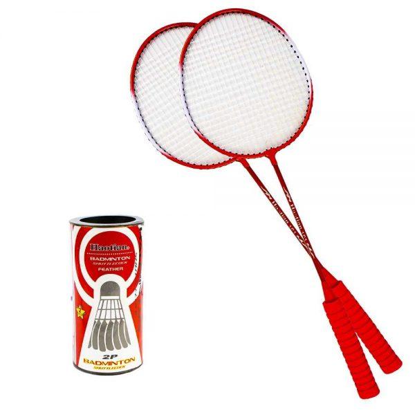 Palete badminton cu husa si fluturasi