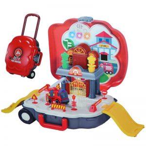 Parcare cu masina de pompieri