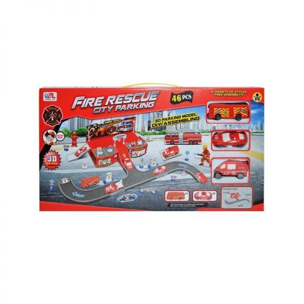 Parcare + masini pompieri + accesorii