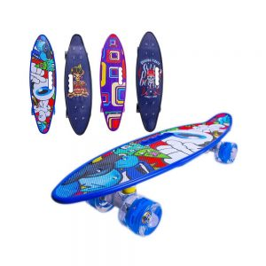 Placa skateboard cu roti silicon