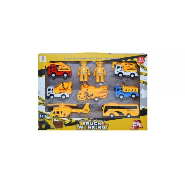 Play set constructii - vehicule + figurine