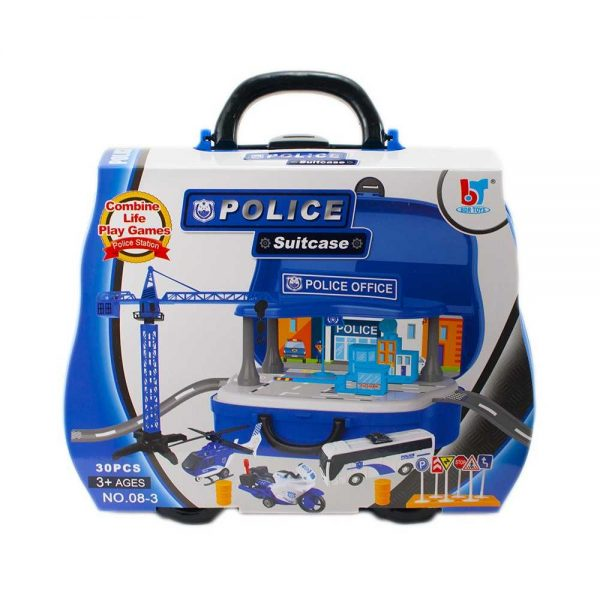 Play set politie in cutie-masinuta