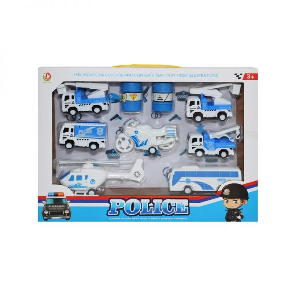 Play set politie - vehicule + containere