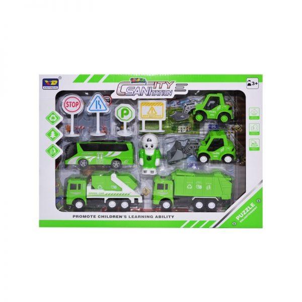 Play set salubrizare - masini + figurina + accesorii