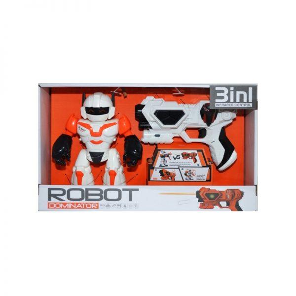 Robot + pistol cu laser