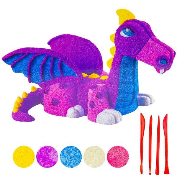 Set plastilina Dragon in cutie
