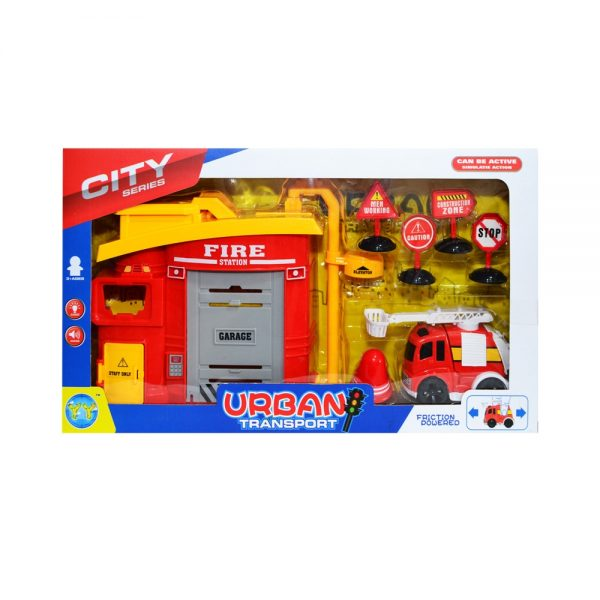 Statie de pompieri + accesorii