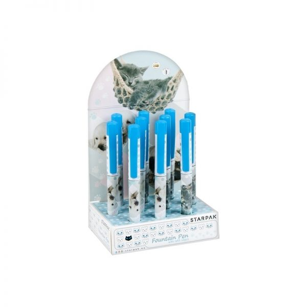 Stilou + 2 rezerve cerneala - Animals 10 buc/display - STARPAK