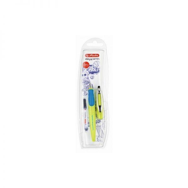 Stilou My.Pen penita M lemon|albastru intens - blister