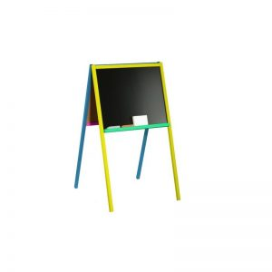 Tablita lemn 2 fete/ 90 cm + suport color - Tupiko