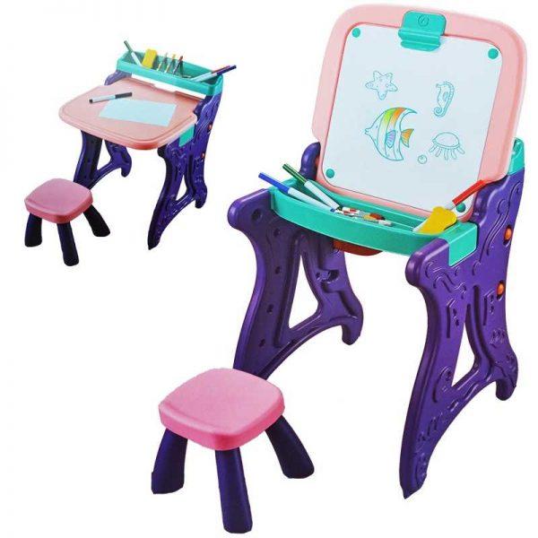 Tablita-sevalet + scaunel si accesorii