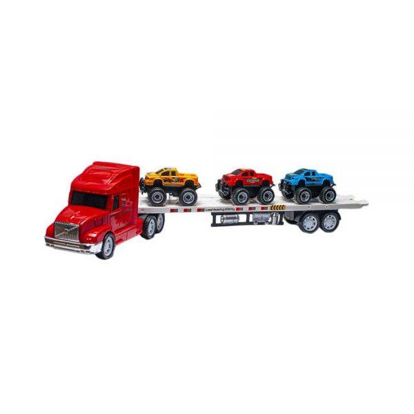 Tir cu 3 jeep-uri