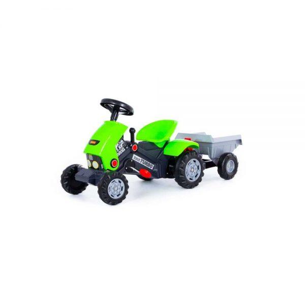 Tractor TURBO 2 cu pedale si remorca - POLESIE