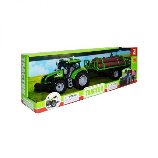 Tractor cu baterii + remorca cu lemne