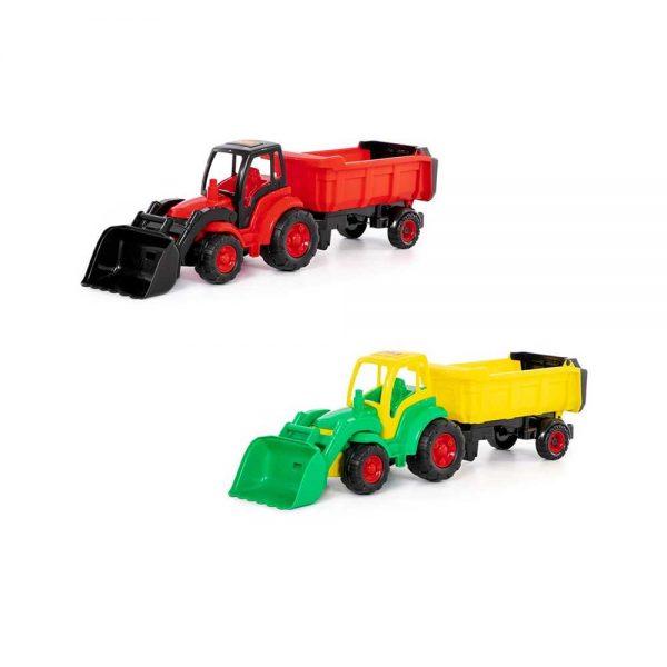 Tractor cu incarcator + remorca - Champion