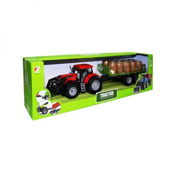 Tractor cu incarcator + remorca cu butoaie