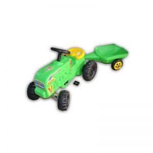 Tractor cu pedale verde Fermier