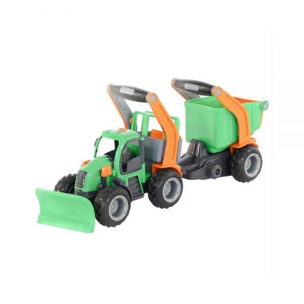 Tractor cu plug si remorca-bazin - GripTrac