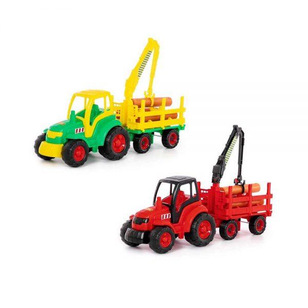 Tractor cu remorca lemne - Champion