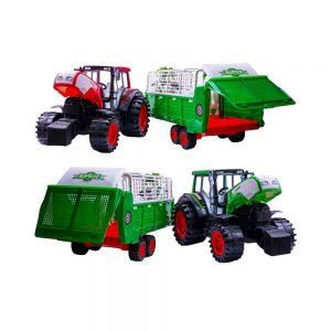 Tractor cu remorca si animale
