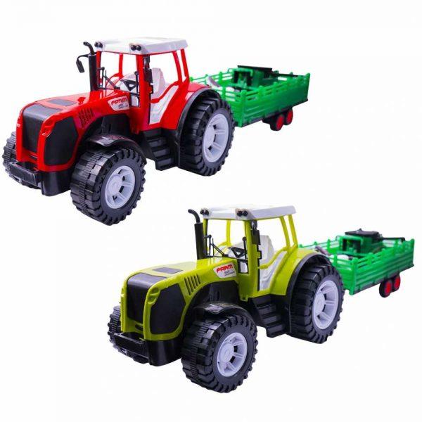 Tractor cu remorca si combina