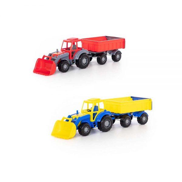 Tractor cu remorca si incarcator - Altay