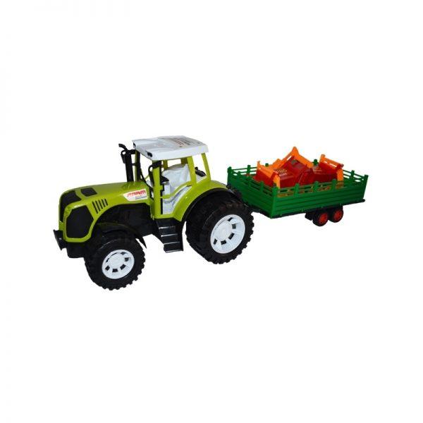 Tractor cu remorca si utilaj