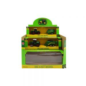 Tractor de metal cu utilaj in cutie - Set 6