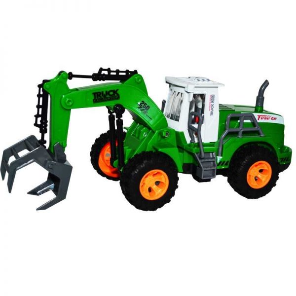 Tractor-incarcator de lemne/baloti cu RC
