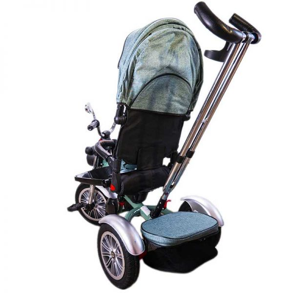 Tricicleta+maner/scaun rabatabil/muzica/roti cauciuc
