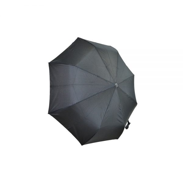 Umbrela scurta semiautomata neagra 31 57 cm